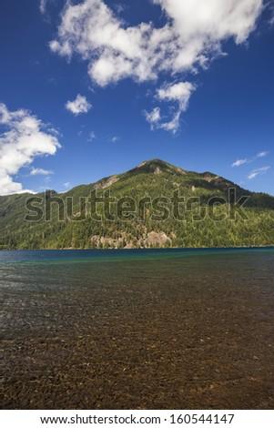 Lake Crescent in Olympic National Park, Washington - stock photo