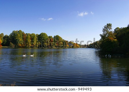 lake elkhorn in Columbia Maryland - stock photo