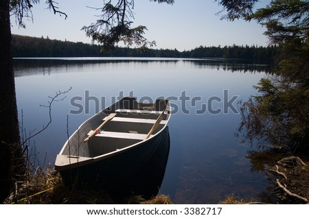 Lake Elliot on the Mastigouche Nature Reserve - stock photo