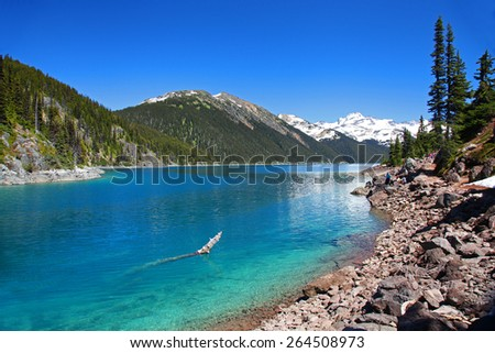 Lake Garibaldi in British Columbia, Canada - stock photo