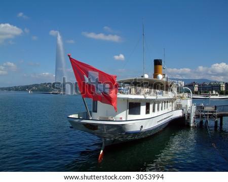 Lake Geneva Switzerland - stock photo