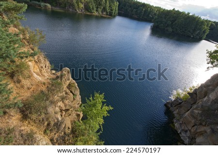 Lake Gr�¼ner See Offenbach - stock photo