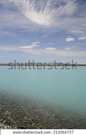 Lake Hawea, South Island , New Zealand - stock photo