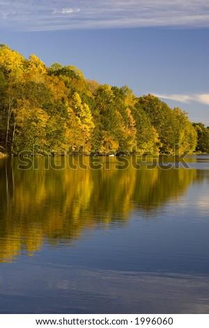 Lake in Fall - stock photo