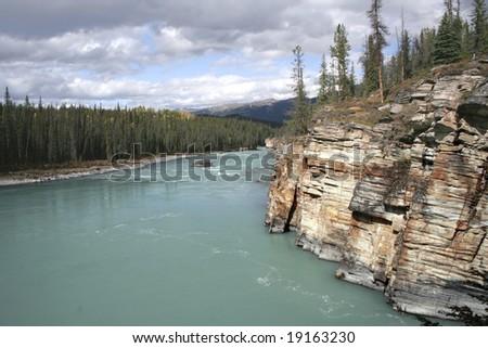 Lake in Jasper BC - stock photo