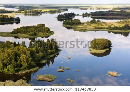 Lake in Lithuania at summer, Europe - stock photo