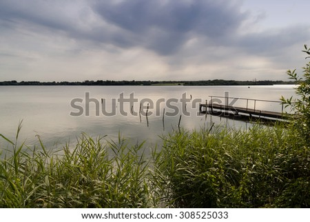 Lake in Northern Germany - stock photo
