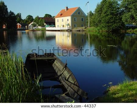 Lake in Sweden - stock photo