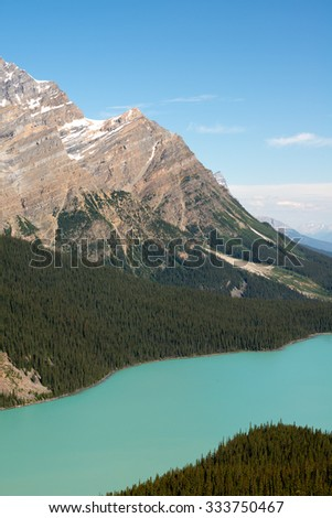 Lake in the Canadian Rockies in Banff National Park, Alberta, Canada - stock photo