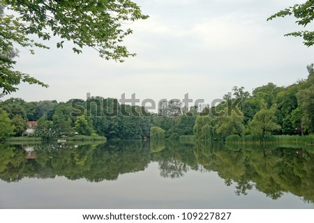 Lake in the park - stock photo