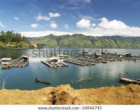 lake laut tawar, takengon, aceh, indonesia - stock photo