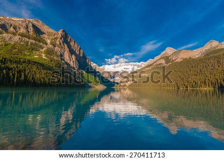 Lake Louise of Canadian Rocky  - stock photo