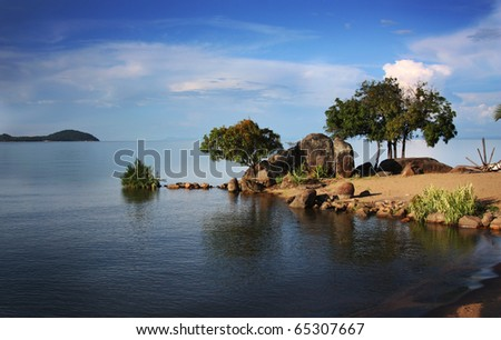 Lake Malawi in Africa - stock photo