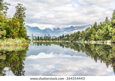 Lake Matheson - stock photo