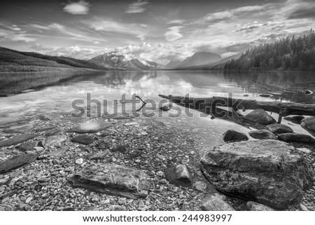 Lake Mc Donald - Glacier NP - stock photo