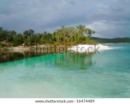 Lake mcKenzie on Fraser Island in Queensland, Australia - stock photo