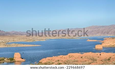 Lake Mead, Las Vegas Overlook, Lake Mead National Recreation Area, Nevada - stock photo