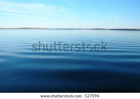Lake Monona, Madison, WI, from the convention center - stock photo