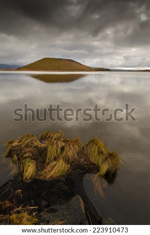 Lake Myvatn in North West Iceland - stock photo