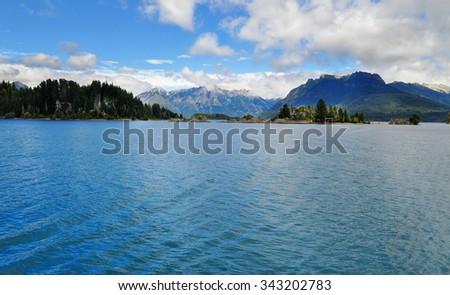 Lake Nahuel Huapi. San Carlos De Bariloche. Argentina - stock photo
