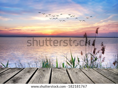 Lake of Dreams. HDR - stock photo