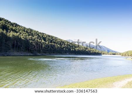 Lake of Engolasters in Andorra La Vella - stock photo