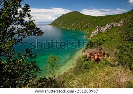 Lake Ohrid - stock photo