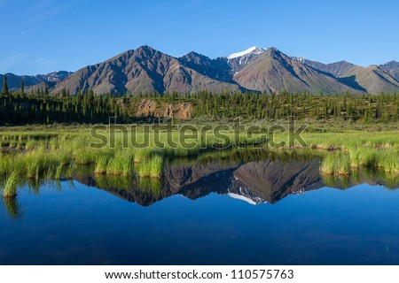 lake on Alaska - stock photo