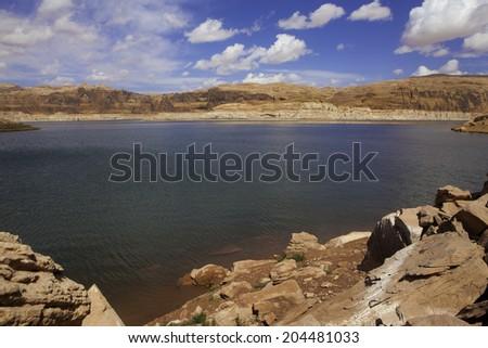 lake powell in utah - stock photo