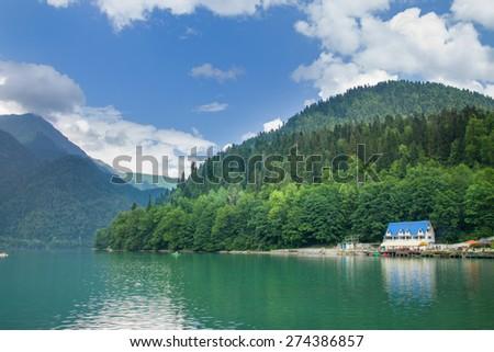 Lake Riza. Abkhazia - stock photo