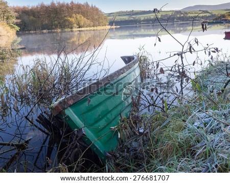 Lake scene in Ireland - stock photo