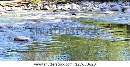Lake scenery - stock photo