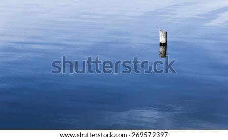 Lake shore in the mid-summer major lake italy - stock photo