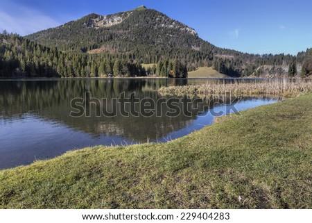 "Lake ""Spitzingsee"" in Bavaria, Germany - stock photo"