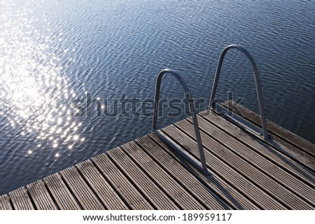 Lake swimming concept - stock photo