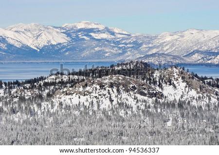 Lake Tahoe California in Winter - stock photo