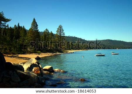 Lake Tahoe Coastline - stock photo