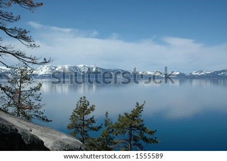Lake Tahoe on the East Shore - stock photo