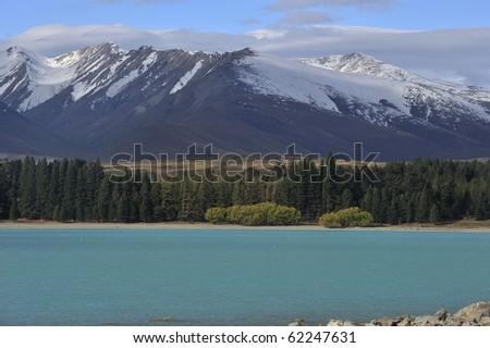 Lake Tekapo in south island of New Zealand - stock photo