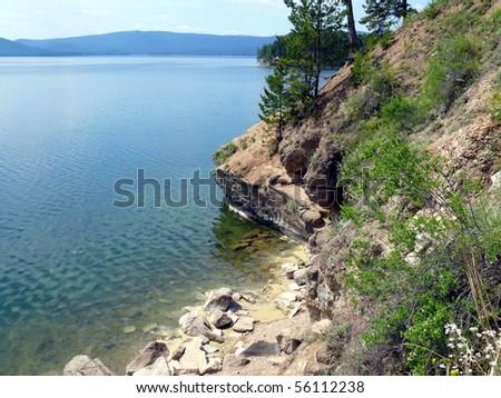 Lake Turgoyak in Chelyabinsk area - stock photo