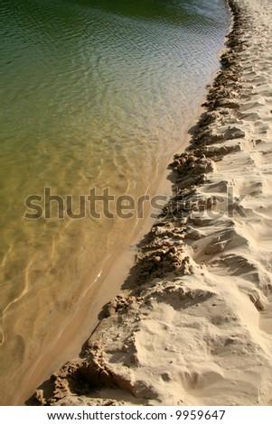 Lake Wabby - Fraser Island, UNESCO, Australia - stock photo