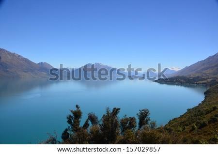 Lake Wakatipu, Queenstown, New Zealand - stock photo