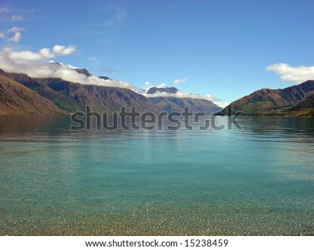 Lake Wakatipu, Queenstown, South Island, New Zealand - stock photo