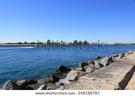 Lake Worth Inlet, also known as the Palm Beach Inlet - stock photo