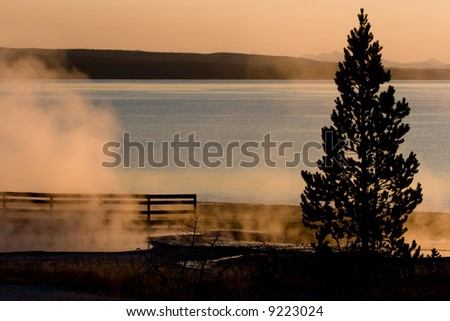 Lake Yellowstone - stock photo