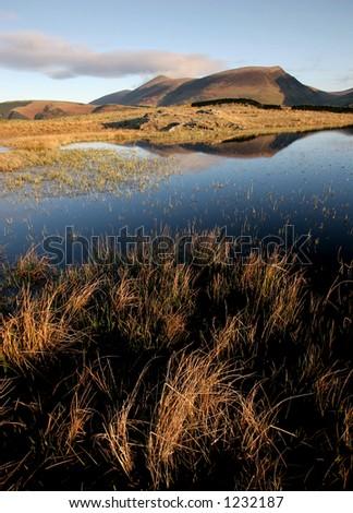 Lakeland Tarn, Cumbria, England - stock photo