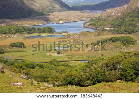 Lakes in Killarney national park in Kerry in Ireland Europe - stock photo