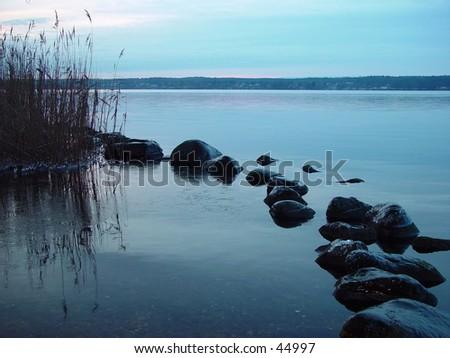 lakeside - stock photo