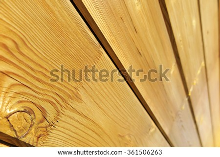 Laminated board wall of a modern wood house under construction - stock photo