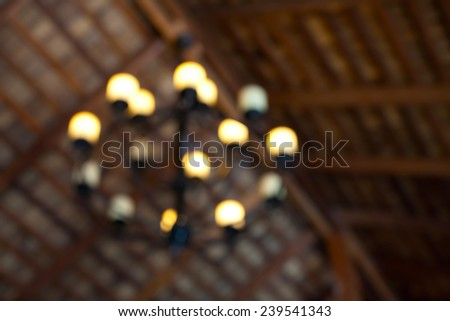 lamp blur background - stock photo